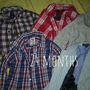 24 months button downs and Tommy Hilfriger Blazer